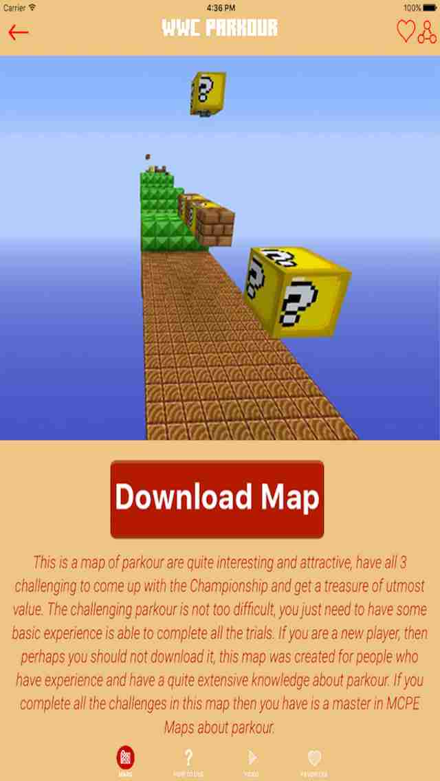 Parkour for Minecraft PE ( Pocket Edition ) - Download Best Maps for Minecraft