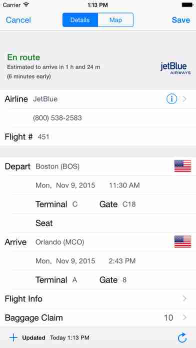 TravelTracker Pro - Live Flight Status, Push Alerts + TripIt Sync