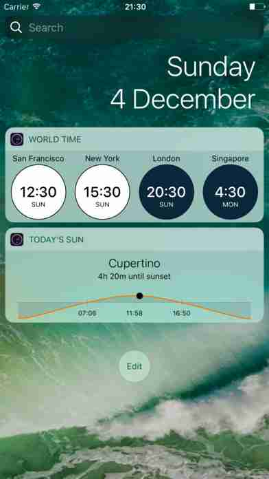 Time & Sun - World Clock Widget with worldwide sunrise and sunset times
