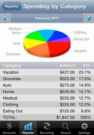 Accounts Lite - Checkbook
