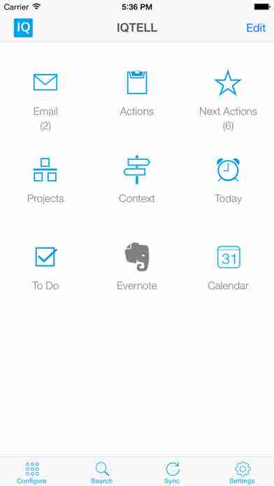 IQTELL Email Productivity App for To-Do Lists & Getting Things Done (GTD®)