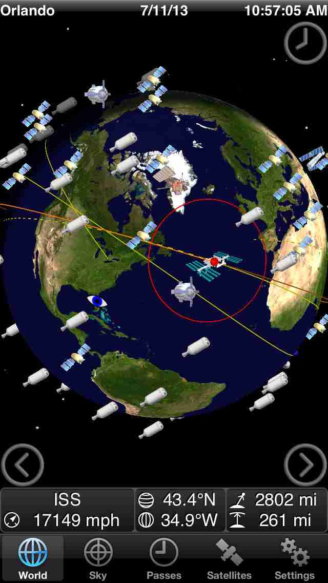 GoSatWatch - Satellite Trackingのスクリーンショット - 1