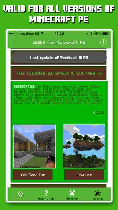 Seeds for Minecraft: Pocket Edition ( PE ) Free Seeds