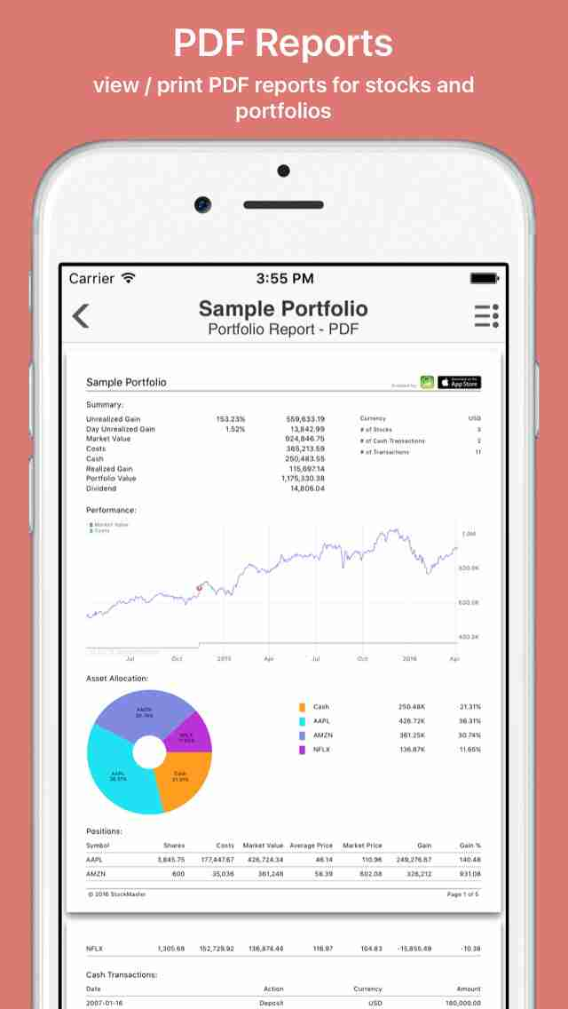 StockIdeal Pro: real time stocks market quotes portfolio charts tracking for google/yahoo financeのスクリーンショット - 1
