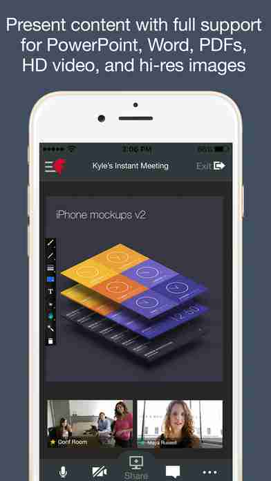 Fuze Meetings for iPhone