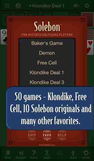 Solebon Solitaire – 50 Card Games