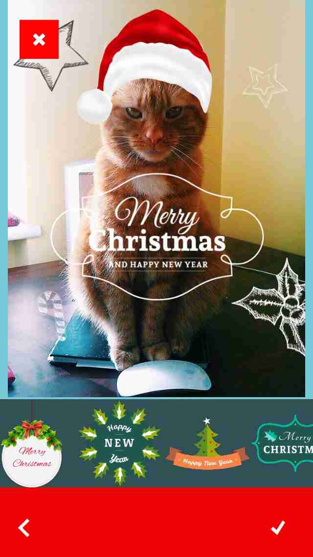 Christmassy - Decorate Photos with Christmas Stickers and Greetings