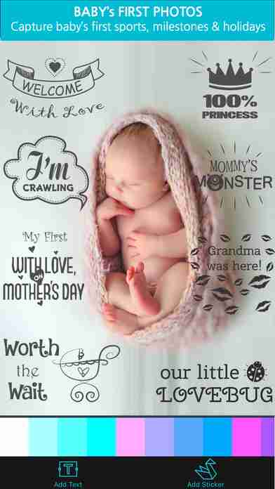 Giggly: baby photo milestones & pregnancy week by week development countdown pics editorのスクリーンショット - 3