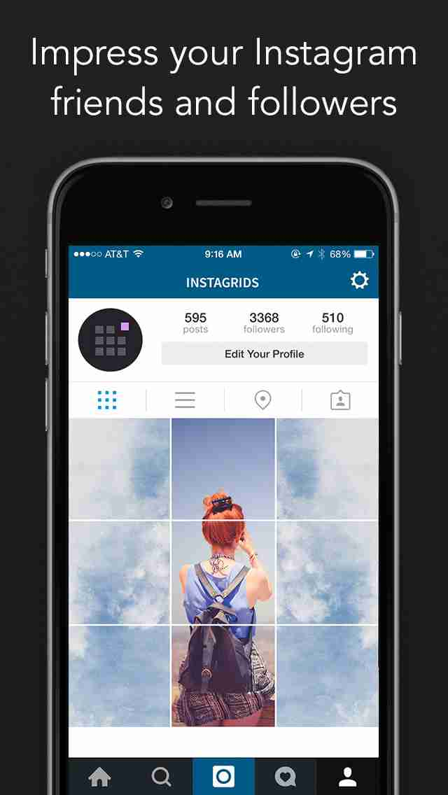 Instagrids Pro - Crop Your Photos For Instagram Profile View