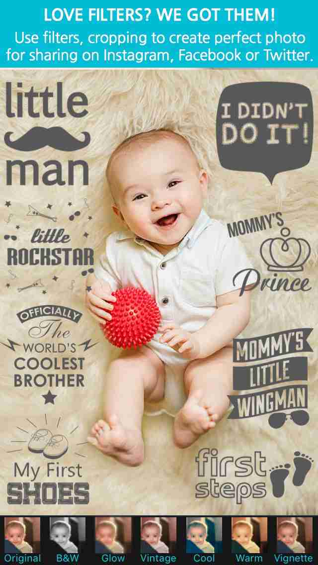 Giggly: baby photo milestones & pregnancy week by week development countdown pics editorのスクリーンショット - 7