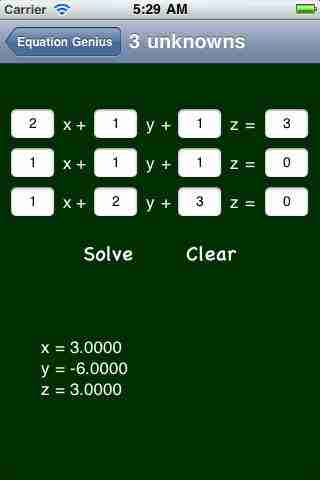 Equation Genius (math equation solver)