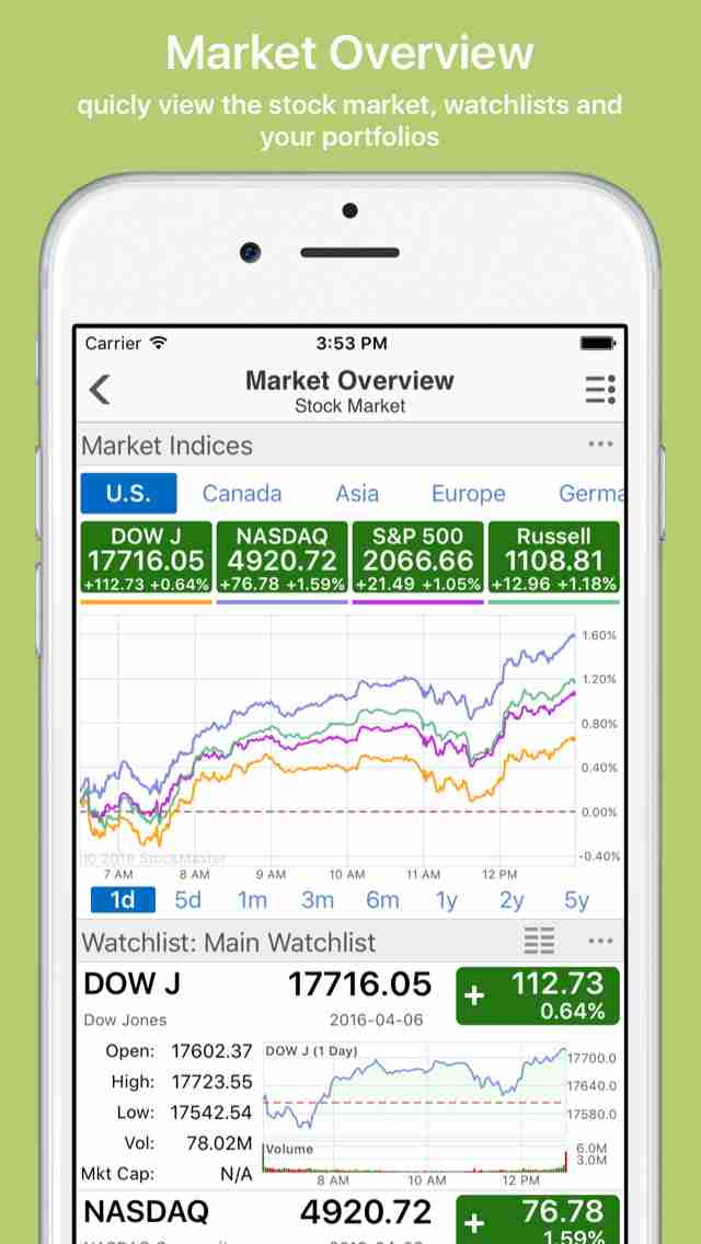 Stock Master: real time stocks market quotes portfolio charts tracking for google/yahoo financeのスクリーンショット - 5
