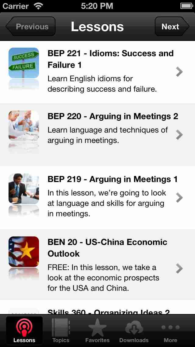 Business English App by Business English Podのスクリーンショット - 1
