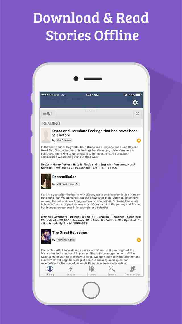 FanFiction Pro - 300,000+ books, ebooks and stories for fiction readersのスクリーンショット - 4