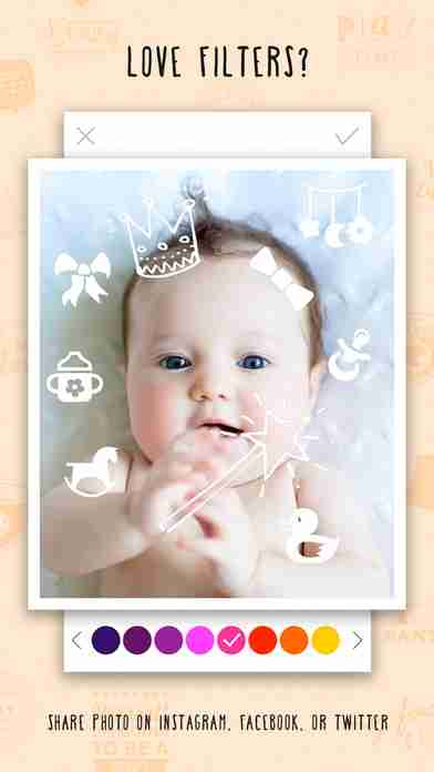 Giggly: baby photo milestones & pregnancy week by week development countdown pics editorのスクリーンショット - 17