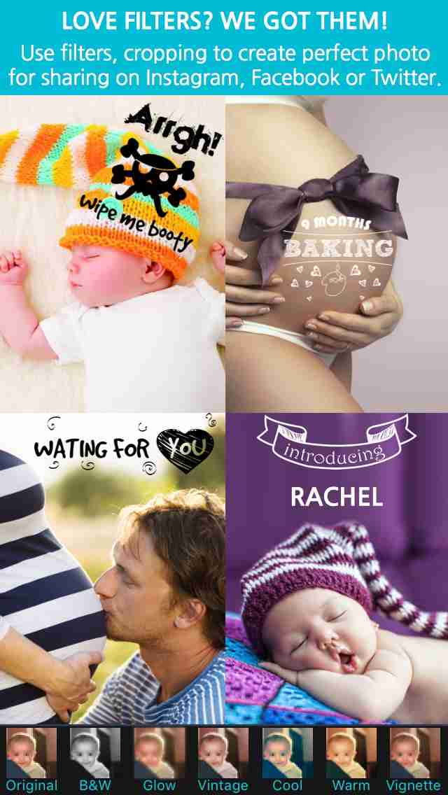 Giggly: baby photo milestones & pregnancy week by week development countdown pics editorのスクリーンショット - 18