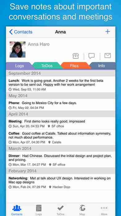 Contacts Journal CRM - Business and Professional Relationships Manager for Customers, Clients and Salesのスクリーンショット - 6