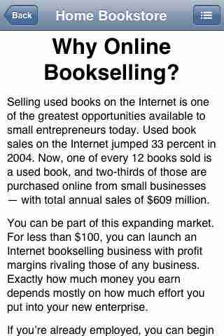Home Based Bookstore: Start Your Own Business Selling Used Books on Amazon, eBay or Your Own Web Siteのスクリーンショット - 4