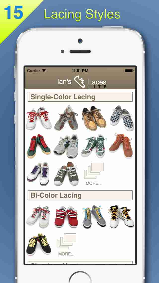 Ian's Laces - How to tie and lace shoes (Lite)のスクリーンショット - 6