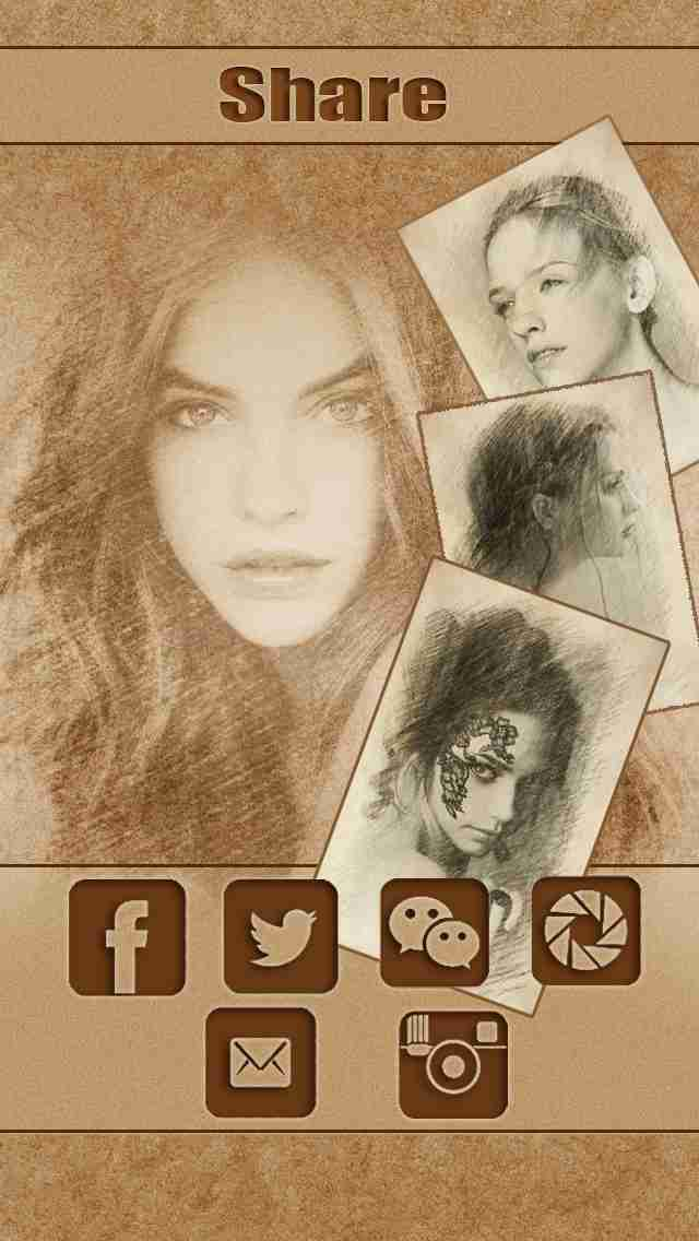 Sketch Guru HD - Portrait Photo Editor to add pencil & cartoon effects, texts, stickers on picのスクリーンショット - 4