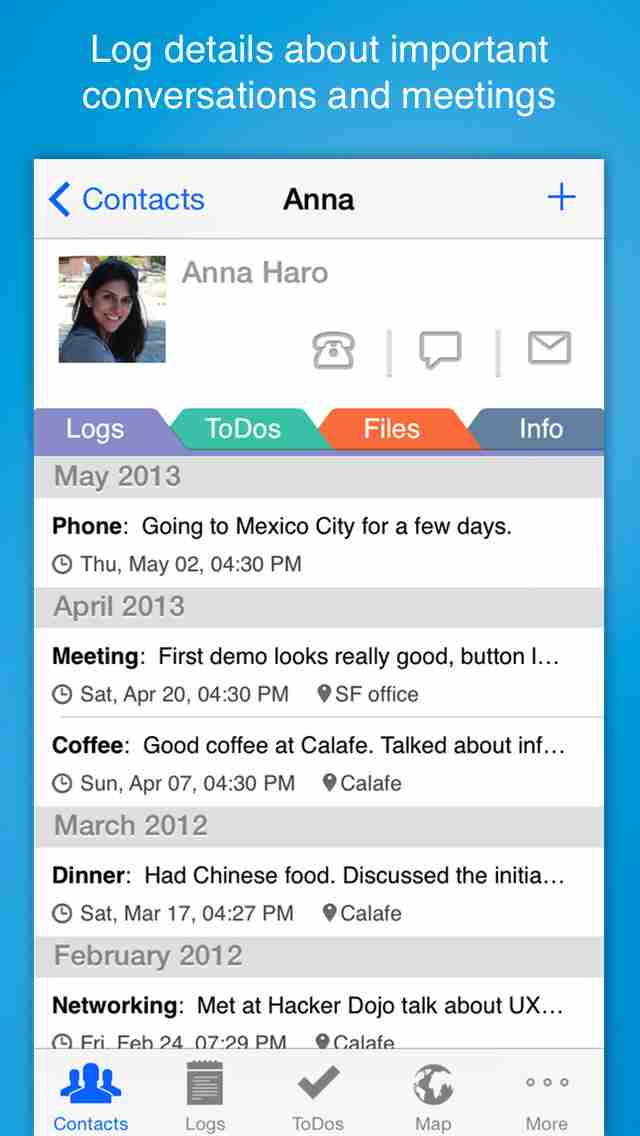 Contacts Journal CRM - Business and Professional Relationships Manager for Customers, Clients and Salesのスクリーンショット - 8
