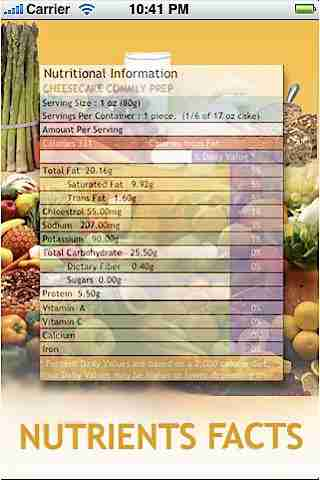 Food Labels With Nutritional Factsのスクリーンショット - 2