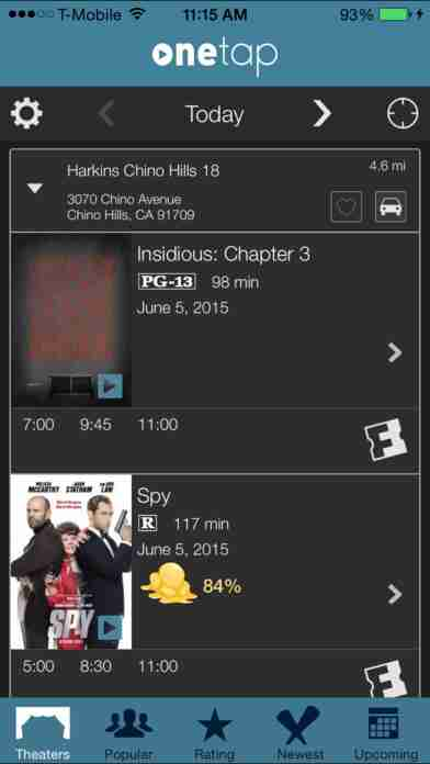 Movies by OneTap - Listings, Trailers & Ticketsのスクリーンショット - 3