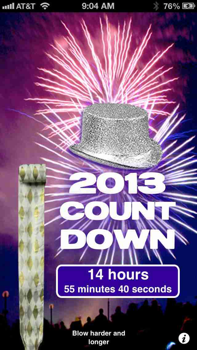 New Year's Blowout Horn! And 2013 Countdown!