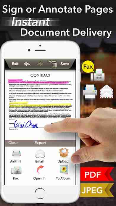 Doc Scan - Scanner to Scan PDF, Print, Fax, Email, and Upload to Cloud Storagesのスクリーンショット - 13