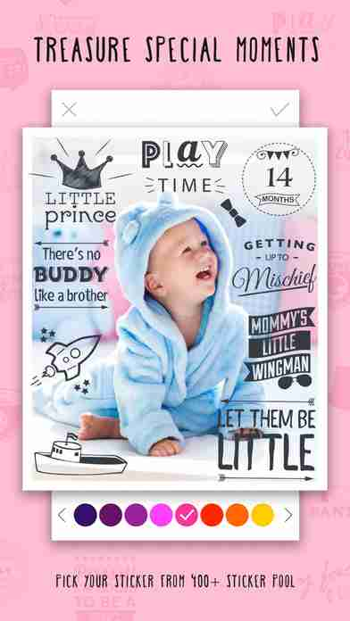 Giggly: baby photo milestones & pregnancy week by week development countdown pics editorのスクリーンショット - 23