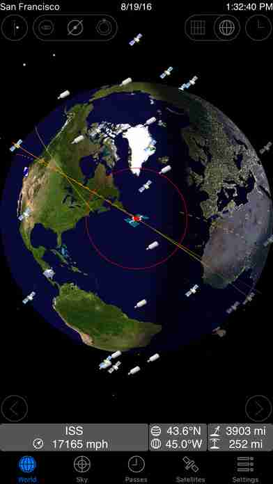 GoSatWatch - Satellite Trackingのスクリーンショット - 9