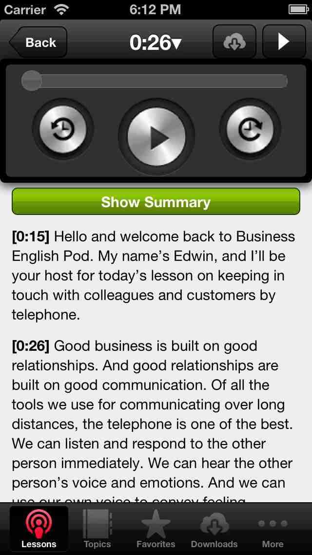 Business English App by Business English Podのスクリーンショット - 3