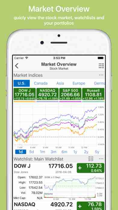 Stock Master: real time stocks market quotes portfolio charts tracking for google/yahoo financeのスクリーンショット - 9