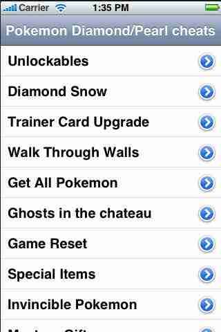 Cheats for Pokemon Diamond/Pearl Guide - FREE
