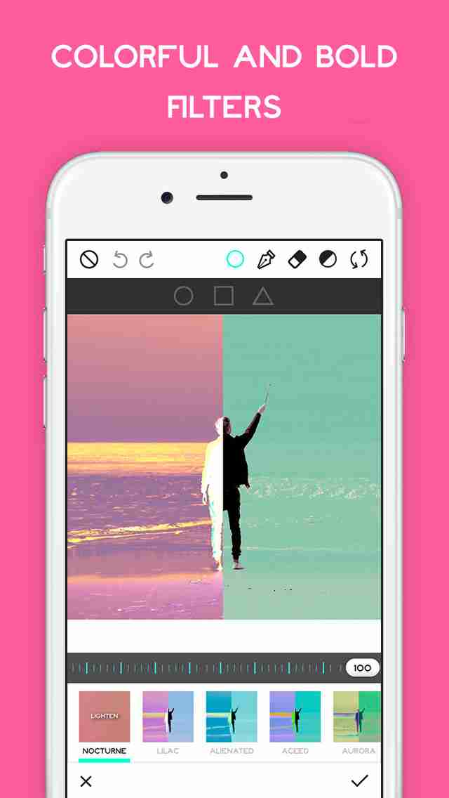 Ultrapop - Collection of Artistic Color Filters and Shapes for Contemporary Art Photo Editsのスクリーンショット - 8