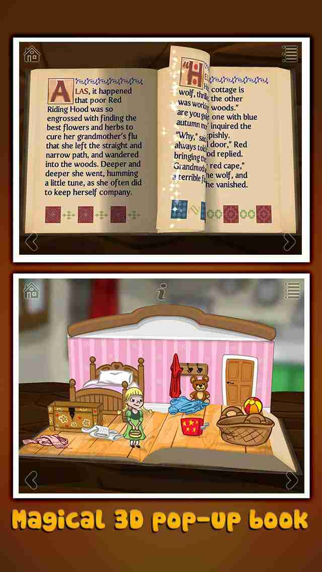 Grimm's Red Riding Hood ~ 3D Interactive Pop-up Bookのスクリーンショット - 10