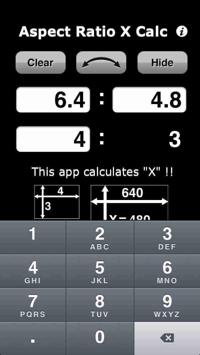 Aspect Ratio X Calc