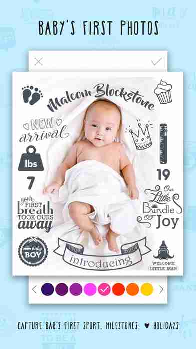 Giggly: baby photo milestones & pregnancy week by week development countdown pics editorのスクリーンショット - 28